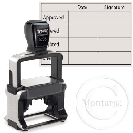 5206 - 33 x 56mm Professional Trodat Self Inking Stamp