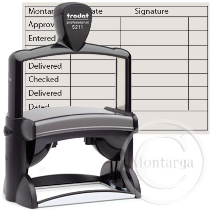 5211  - 55 x 85mm Professional Trodat Self Inking Stamp