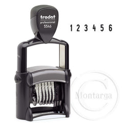 .6 Bands - 4mm High 5546 Trodat Self Inking Stamp