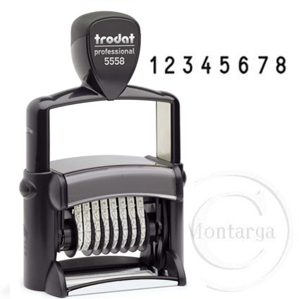 .8 Bands - 5mm High 5558 Trodat Self Inking Stamp