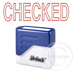 Checked Deskmate Stamp
