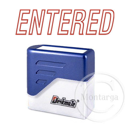 Entered Red Deskmate Stamp