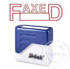 Faxed + Box Deskmate Stamp