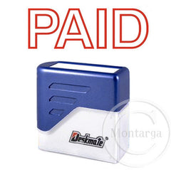 Paid Red Deskmate Stamp