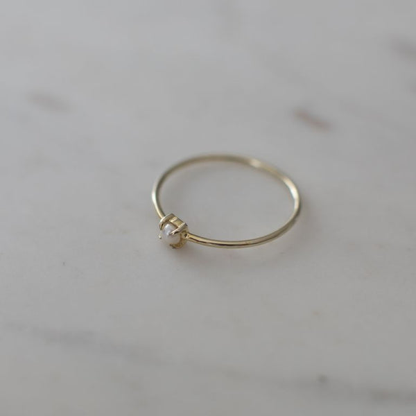 Mini Pearl Ring | Gold - SOPHIE