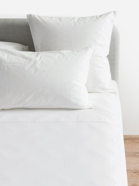 Classic Organic Cotton Euro Pillowcase |White - Citta