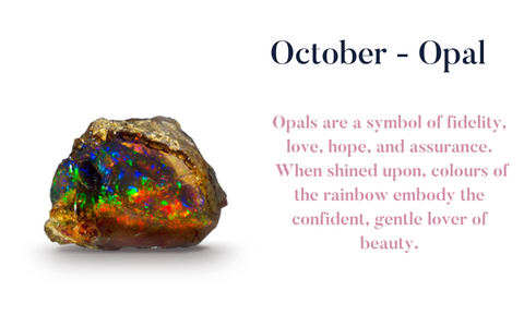 October Opal Birthstone Pendant