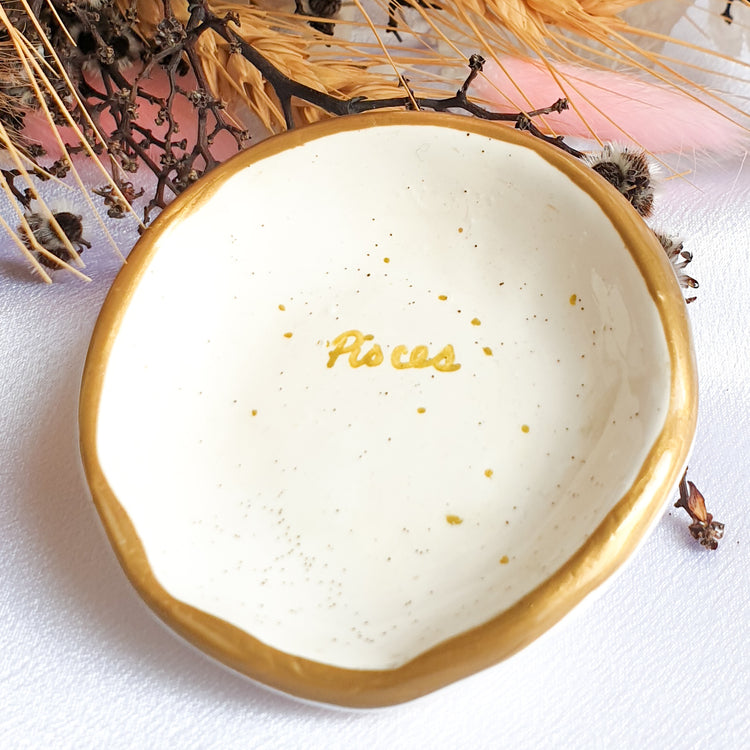 Pisces star sign jewellery dish