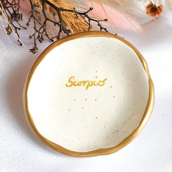Scorpio star sign jewellery dish