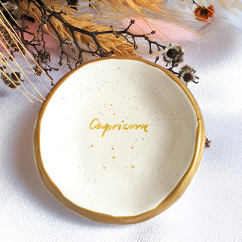 Capricorn star sign jewellery dish