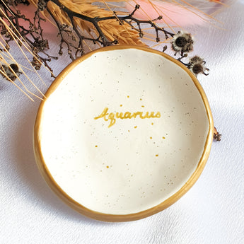 Aquarius star sign jewellery dish