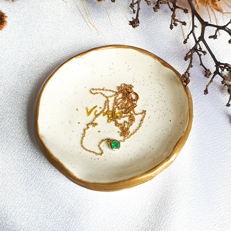 Virgo star sign jewellery dish