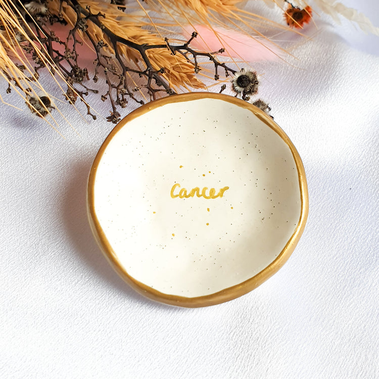 Cancer star sign jewellery dish