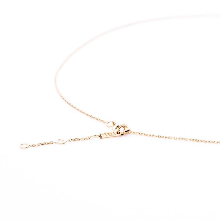 VOA Fine Jewellery 18k gold chain handmade in Australia. 3 extenders for you personalise the look and wear it 3 different lengths - choker or low necklace.