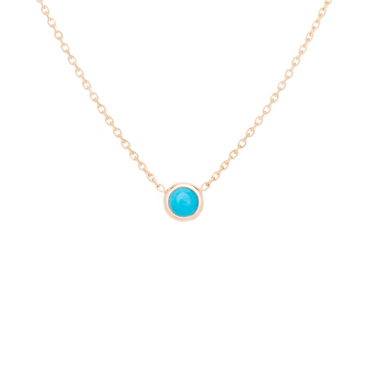 Classic birthstone turquoise necklace, celebrating the month of December. Consisting of 18k gold chain with extenders to personalise length of necklace/choker. Perfect as an anniversary, birthday or special occasion jewellery present.