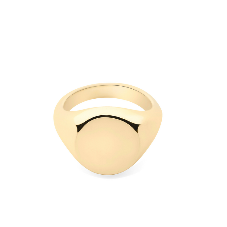 Gold Pinkie Signet Ring