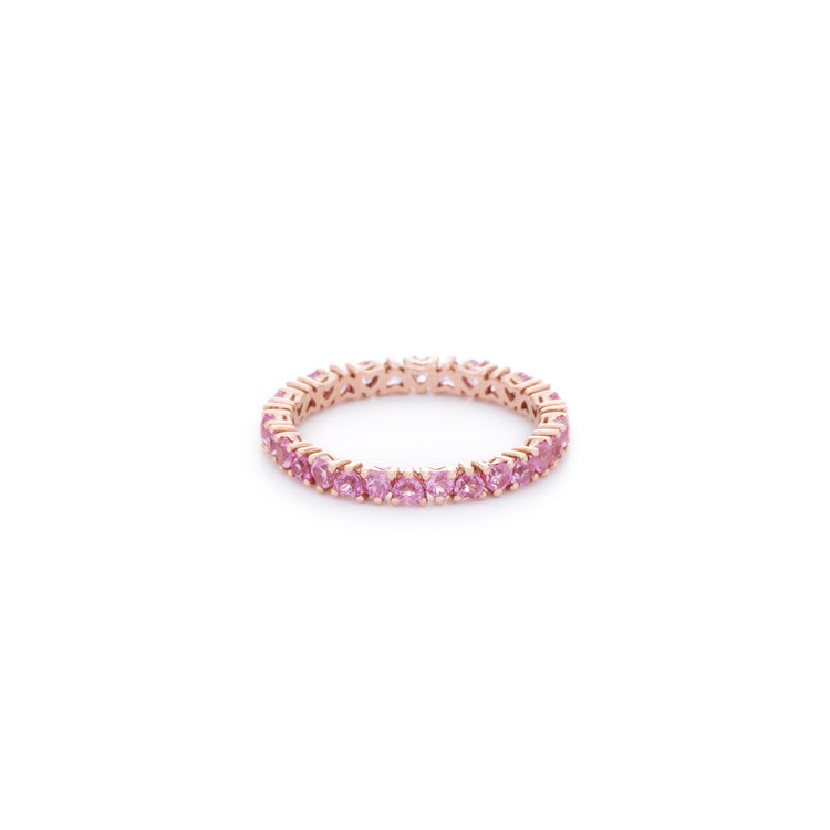 Pink heart shaped sapphire ring. Handcrafted in Australia from custom cut size natural sapphires on 18K gold ring.
