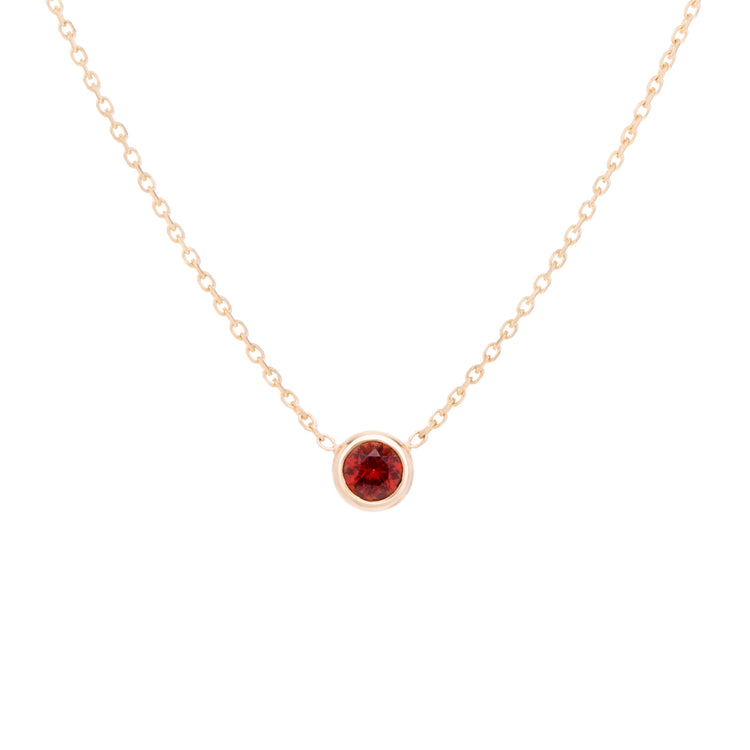 The blood red Garnet celebrates the month of January.  Consisting of 18k gold chain with extenders to personalise length of necklace/choker. Perfect as an anniversary, birthday or special occasion jewellery present.