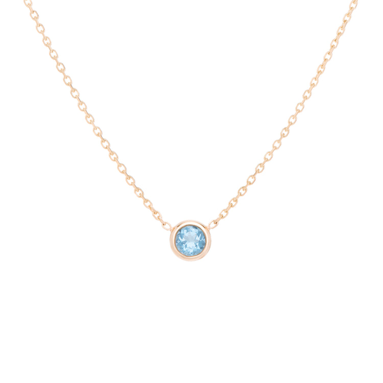 The light sky blue gem, Topaz necklace celebrates the month of November. Consisting of 18k gold chain with extenders to personalise length of necklace/choker. Perfect as an anniversary, birthday or special occasion jewellery present.