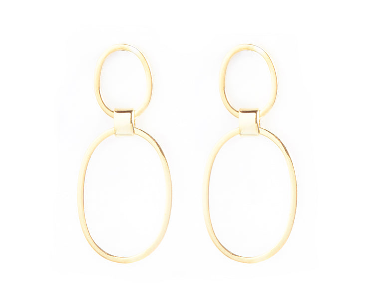 Oval SYM Drop Earrings