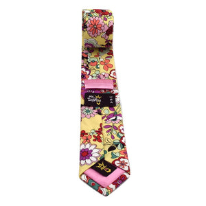 MrShorTie-yellow-purple-red-cotton-floral-short-tie-necktie-El-Capitan-ShorTie