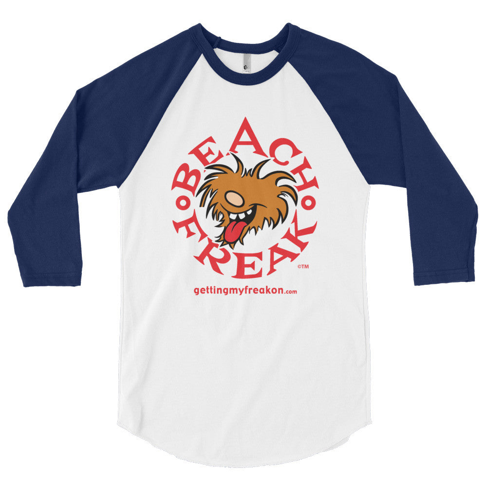 Beach Freak Red 3/4 sleeve raglan shirt