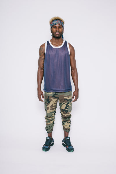 Red/Navy Reversible Mesh Tank Top