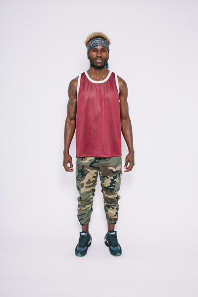 Green/Maroon Reversible Mesh Tank Top