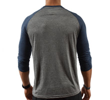 Blue Baseball T-shirt Mens Back