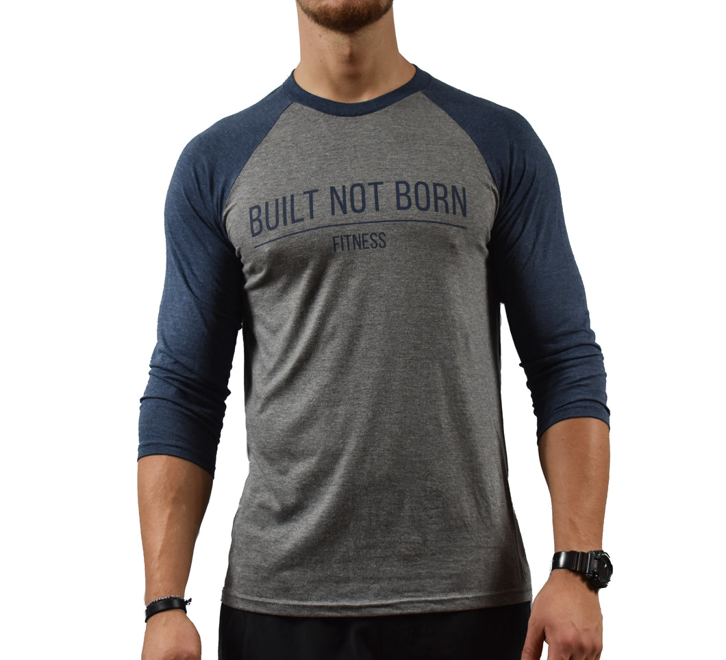 Blue Baseball T-shirt Mens Front