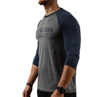 Blue Baseball T-shirt Mens Side