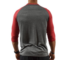 Red Men's Baseball T-Shirt Back