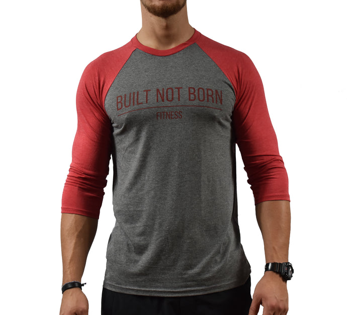 Red Men's Baseball T-Shirt Front