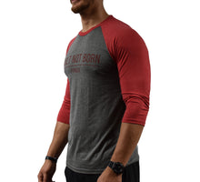 Red Men's Baseball T-Shirt Side