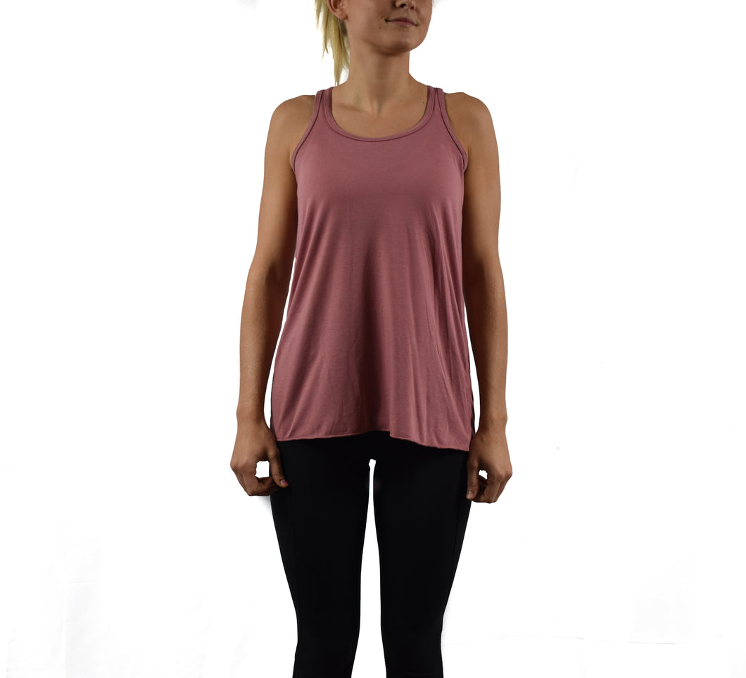 Women's Fitness Tank Top Mauve Front