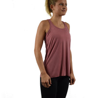 Women's Fitness Tank Top Mauve Side