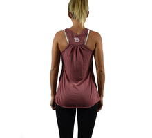 Women's Fitness Tank Top Mauve Back