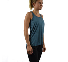 Women's Fitness Tank Top Teal Side