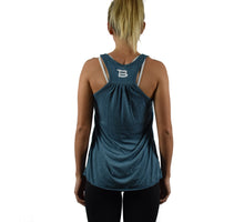 Women's Fitness Tank Top Teal Back