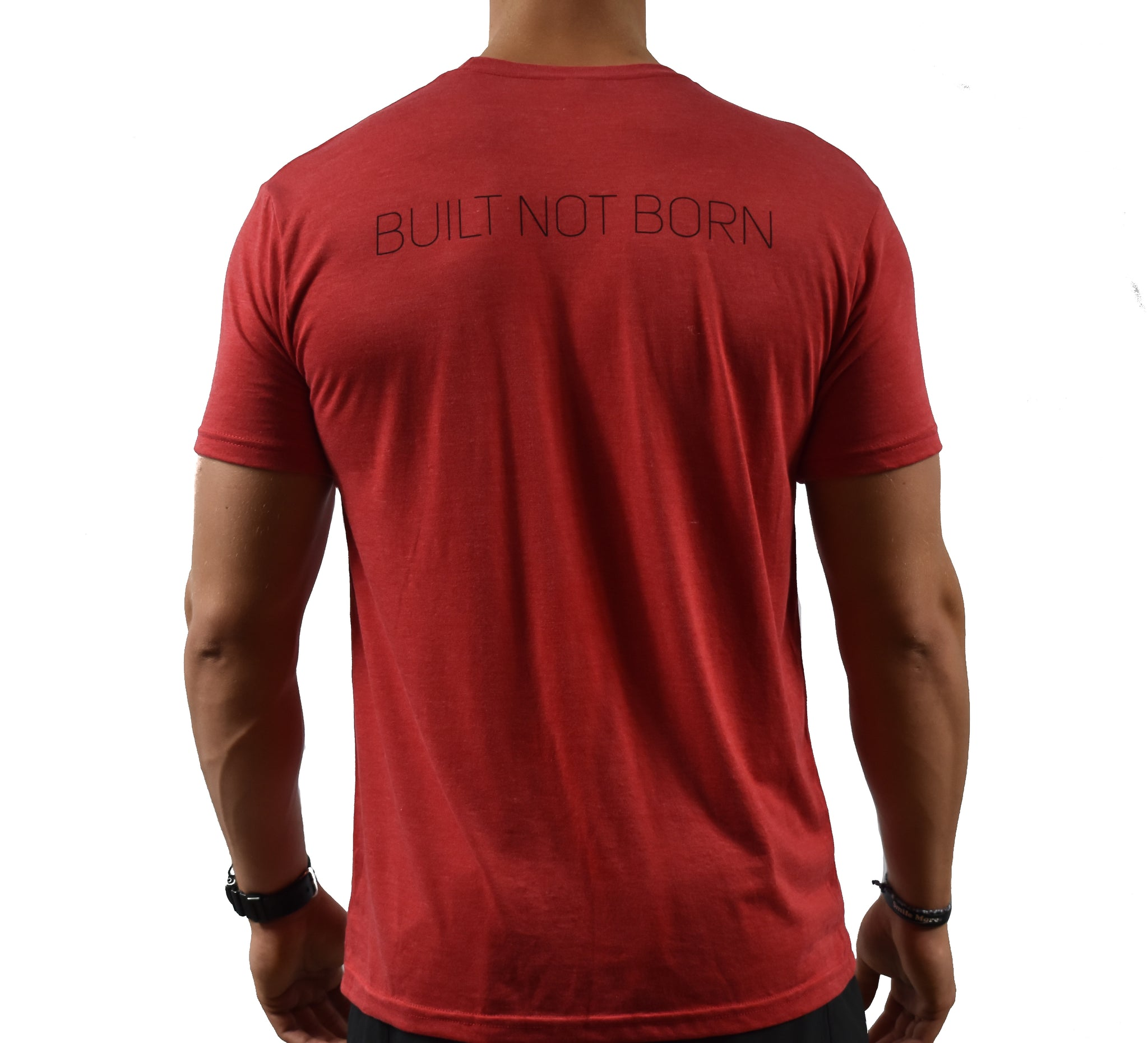 Movement Men's Red Soft T-shirt Back