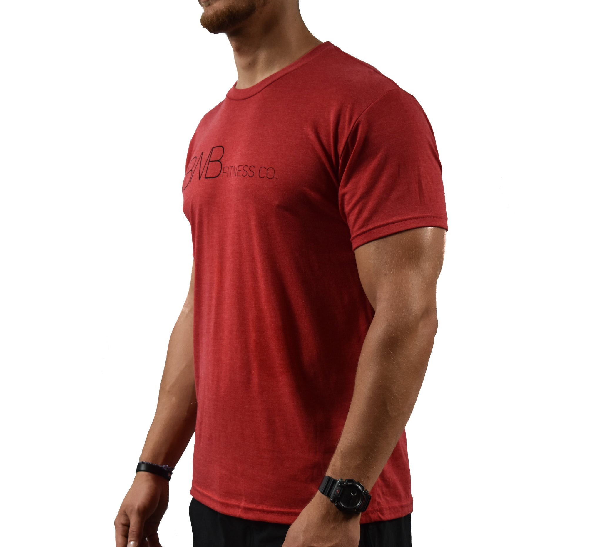 Movement Men's Red Soft T-shirt Side