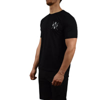 Men's Fitness Short Sleeve Shirt Black Side