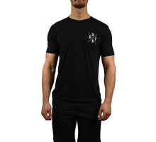 Men's Fitness Short Sleeve Shirt Black Front