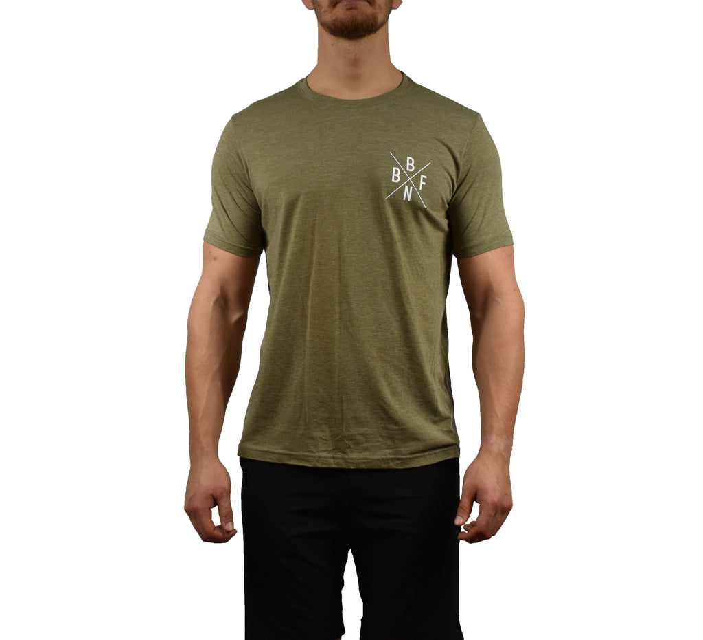 Men's Fitness Short Sleeve Shirt Sage Front