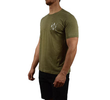 Men's Fitness Short Sleeve Shirt Sage Side