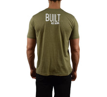 Men's Fitness Short Sleeve Shirt Sage Back