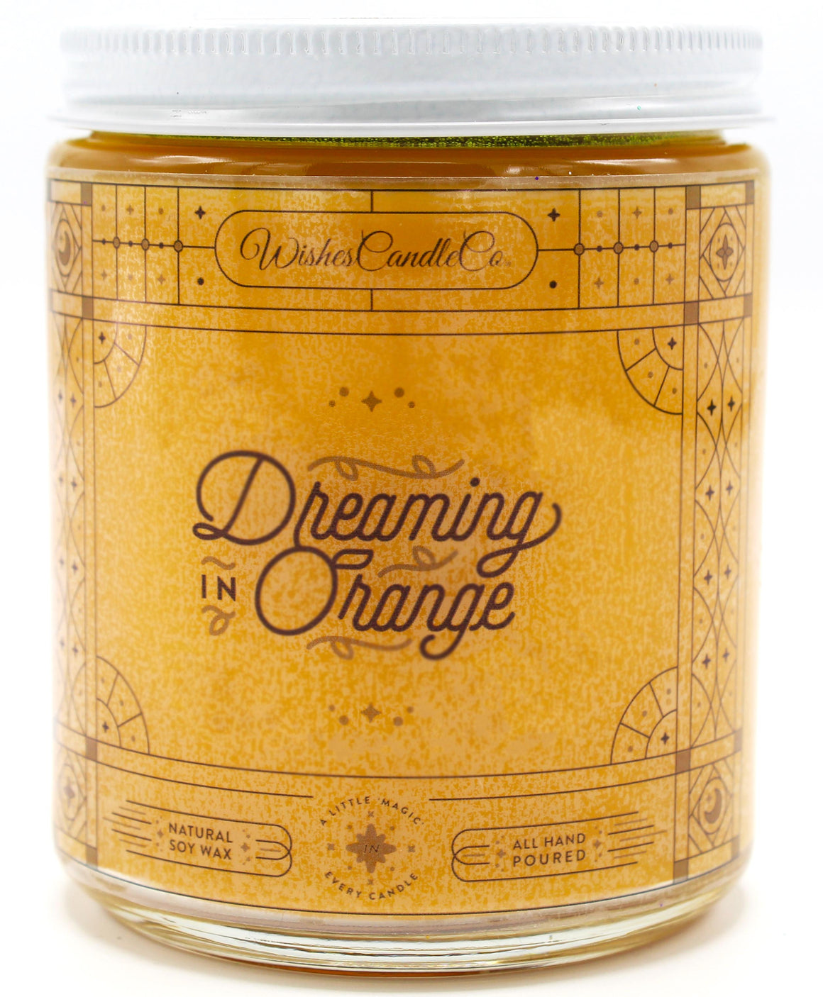 Dreaming in Orange 8oz Candle With Free Pin Inside