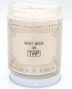 Root Beer On Tap 8oz Candle With Free Pin Inside