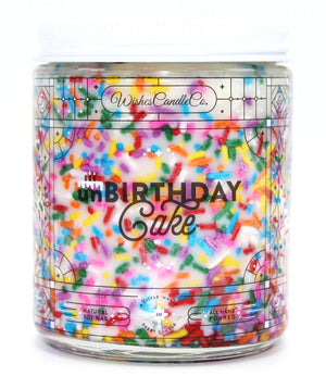 Unbirthday Cake 8oz Candle With Free Pin Inside
