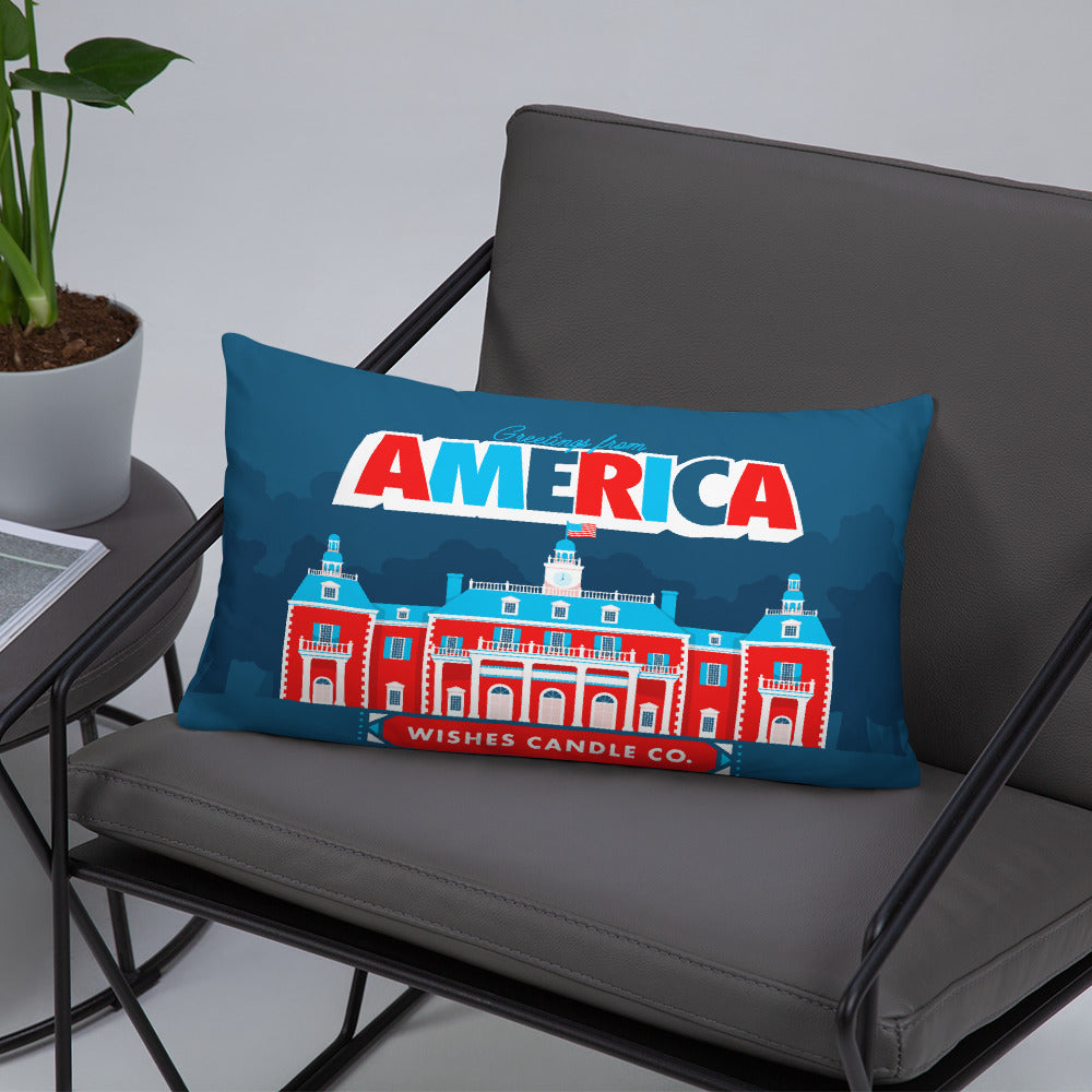 Greetings From - America! Throw Pillow
